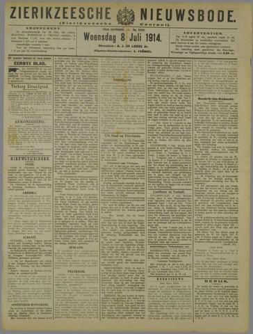 Zierikzeesche Nieuwsbode 1914-07-08