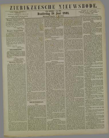 Zierikzeesche Nieuwsbode 1891-06-18