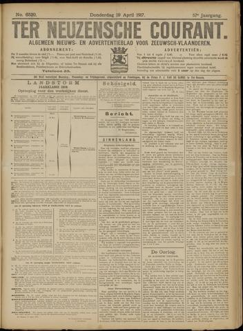 Ter Neuzensche Courant. Algemeen Nieuws- en Advertentieblad voor Zeeuwsch-Vlaanderen / Neuzensche Courant ... (idem) / (Algemeen) nieuws en advertentieblad voor Zeeuwsch-Vlaanderen 1917-04-19
