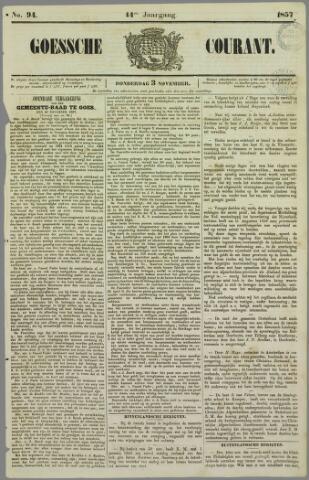 Goessche Courant 1857-11-03