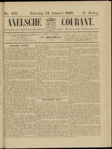 Axelsche Courant 1891-01-31