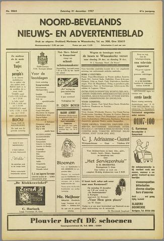 Noord-Bevelands Nieuws- en advertentieblad 1957-12-21