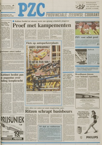 Provinciale Zeeuwse Courant 1993-04-22