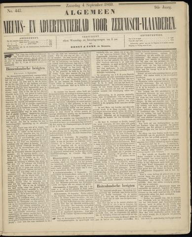 Ter Neuzensche Courant. Algemeen Nieuws- en Advertentieblad voor Zeeuwsch-Vlaanderen / Neuzensche Courant ... (idem) / (Algemeen) nieuws en advertentieblad voor Zeeuwsch-Vlaanderen 1869-09-04