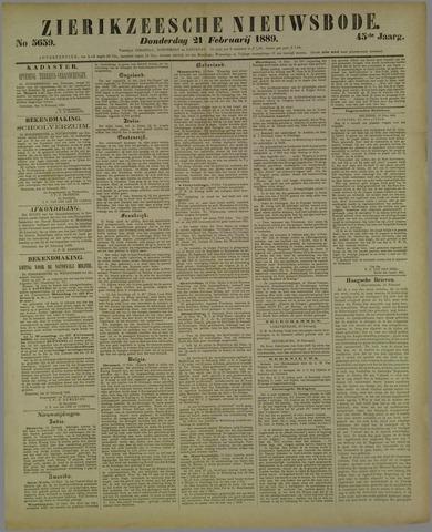 Zierikzeesche Nieuwsbode 1889-02-21