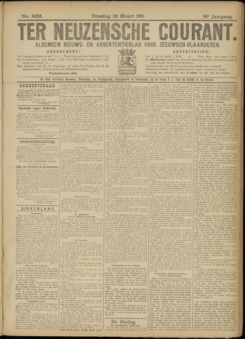 Ter Neuzensche Courant. Algemeen Nieuws- en Advertentieblad voor Zeeuwsch-Vlaanderen / Neuzensche Courant ... (idem) / (Algemeen) nieuws en advertentieblad voor Zeeuwsch-Vlaanderen 1916-03-28