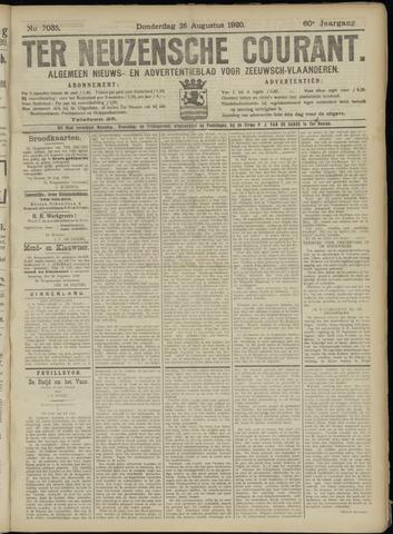 Ter Neuzensche Courant. Algemeen Nieuws- en Advertentieblad voor Zeeuwsch-Vlaanderen / Neuzensche Courant ... (idem) / (Algemeen) nieuws en advertentieblad voor Zeeuwsch-Vlaanderen 1920-08-26