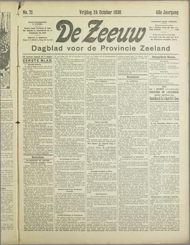 De Zeeuw. Christelijk-historisch nieuwsblad voor Zeeland 1930-10-24
