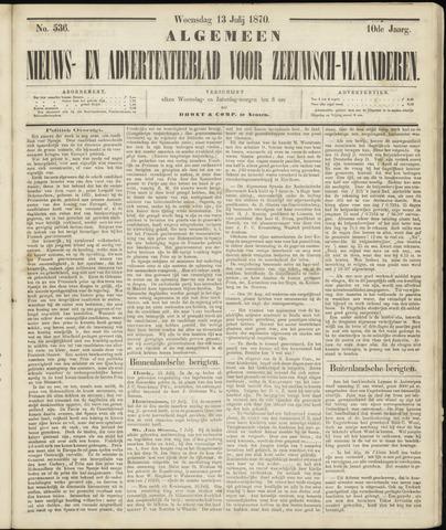 Ter Neuzensche Courant. Algemeen Nieuws- en Advertentieblad voor Zeeuwsch-Vlaanderen / Neuzensche Courant ... (idem) / (Algemeen) nieuws en advertentieblad voor Zeeuwsch-Vlaanderen 1870-07-13