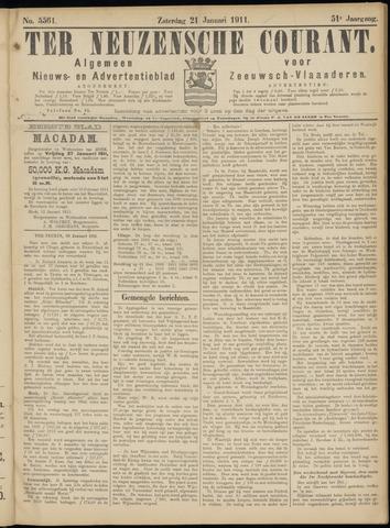Ter Neuzensche Courant. Algemeen Nieuws- en Advertentieblad voor Zeeuwsch-Vlaanderen / Neuzensche Courant ... (idem) / (Algemeen) nieuws en advertentieblad voor Zeeuwsch-Vlaanderen 1911-01-21
