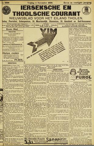 Ierseksche en Thoolsche Courant 1929-11-01