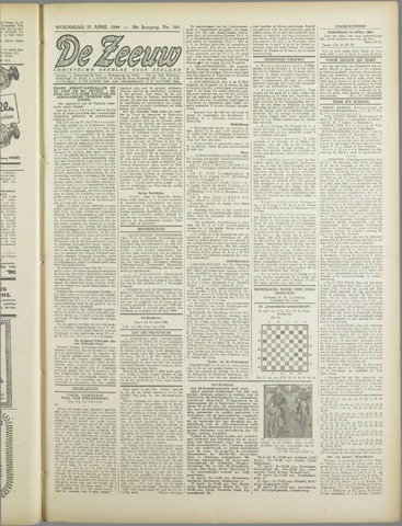 De Zeeuw. Christelijk-historisch nieuwsblad voor Zeeland 1944-04-12