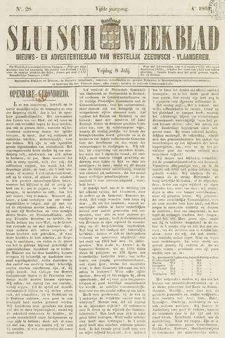Sluisch Weekblad. Nieuws- en advertentieblad voor Westelijk Zeeuwsch-Vlaanderen 1864-07-08