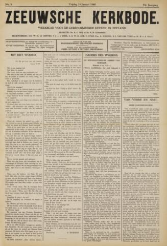 Zeeuwsche kerkbode, weekblad gewijd aan de belangen der gereformeerde kerken/ Zeeuwsch kerkblad 1940-01-19