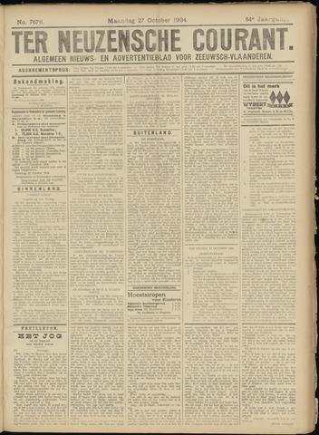 Ter Neuzensche Courant. Algemeen Nieuws- en Advertentieblad voor Zeeuwsch-Vlaanderen / Neuzensche Courant ... (idem) / (Algemeen) nieuws en advertentieblad voor Zeeuwsch-Vlaanderen 1924-10-27