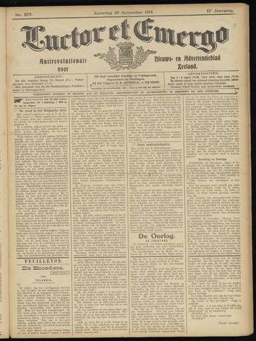Luctor et Emergo. Antirevolutionair nieuws- en advertentieblad voor Zeeland / Zeeuwsch-Vlaanderen. Orgaan ter verspreiding van de christelijke beginselen in Zeeuwsch-Vlaanderen 1914-11-28