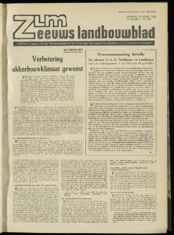 Zeeuwsch landbouwblad ... ZLM land- en tuinbouwblad 1962-04-13