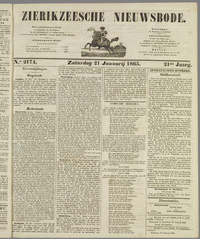 Zierikzeesche Nieuwsbode 1865-01-21
