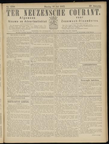 Ter Neuzensche Courant. Algemeen Nieuws- en Advertentieblad voor Zeeuwsch-Vlaanderen / Neuzensche Courant ... (idem) / (Algemeen) nieuws en advertentieblad voor Zeeuwsch-Vlaanderen 1912-07-16