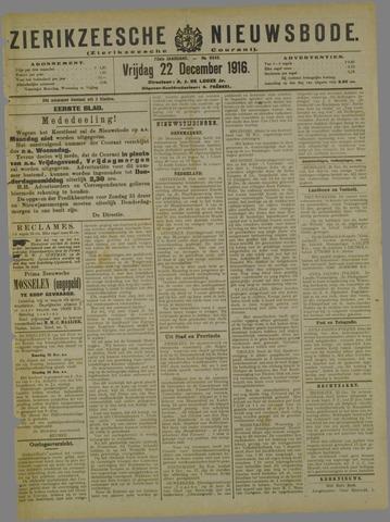 Zierikzeesche Nieuwsbode 1916-12-22