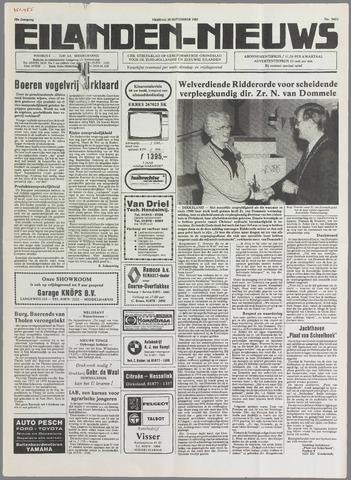 Eilanden-nieuws. Christelijk streekblad op gereformeerde grondslag 1985-09-20