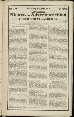 Ter Neuzensche Courant. Algemeen Nieuws- en Advertentieblad voor Zeeuwsch-Vlaanderen / Neuzensche Courant ... (idem) / (Algemeen) nieuws en advertentieblad voor Zeeuwsch-Vlaanderen 1865-03-08