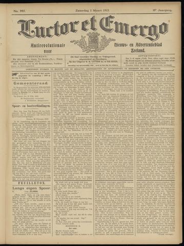 Luctor et Emergo. Antirevolutionair nieuws- en advertentieblad voor Zeeland / Zeeuwsch-Vlaanderen. Orgaan ter verspreiding van de christelijke beginselen in Zeeuwsch-Vlaanderen 1913-03-01