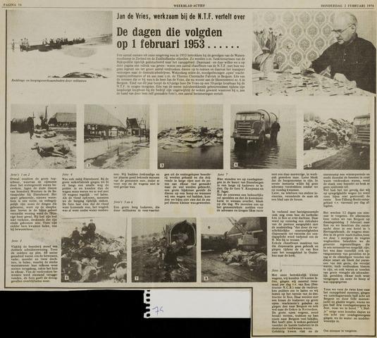 Watersnood documentatie 1953 - diversen 1978