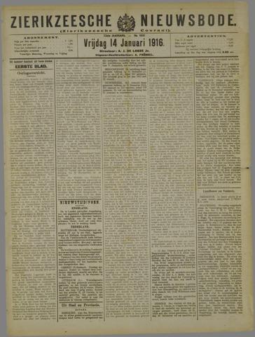 Zierikzeesche Nieuwsbode 1916-01-14
