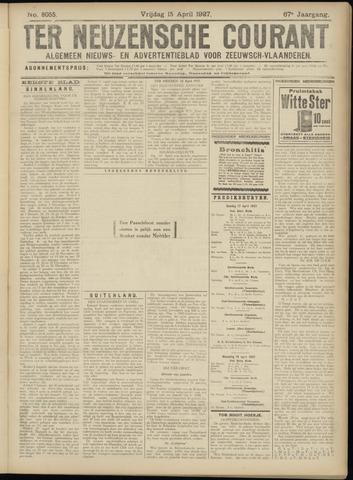 Ter Neuzensche Courant. Algemeen Nieuws- en Advertentieblad voor Zeeuwsch-Vlaanderen / Neuzensche Courant ... (idem) / (Algemeen) nieuws en advertentieblad voor Zeeuwsch-Vlaanderen 1927-04-15