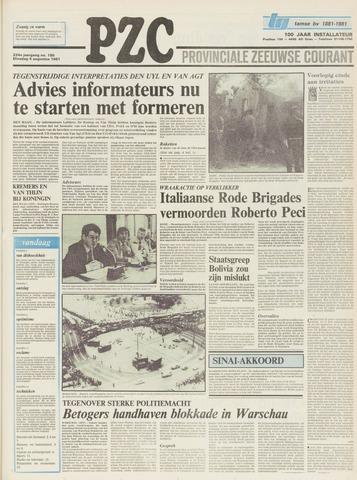 Provinciale Zeeuwse Courant 1981-08-04