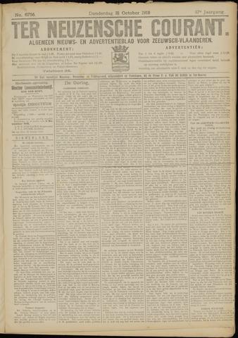 Ter Neuzensche Courant. Algemeen Nieuws- en Advertentieblad voor Zeeuwsch-Vlaanderen / Neuzensche Courant ... (idem) / (Algemeen) nieuws en advertentieblad voor Zeeuwsch-Vlaanderen 1918-10-31