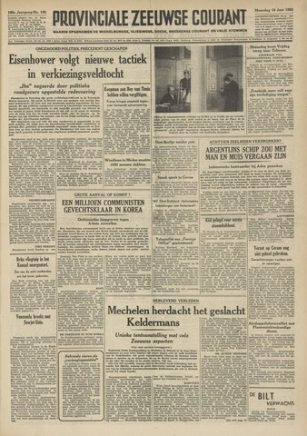 Provinciale Zeeuwse Courant 1952-06-16