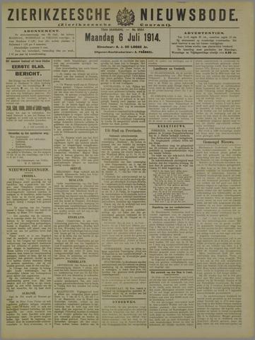 Zierikzeesche Nieuwsbode 1914-07-06
