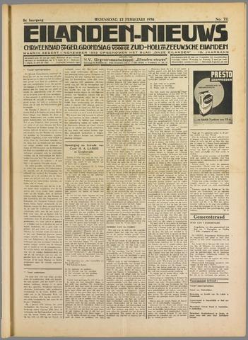 Eilanden-nieuws. Christelijk streekblad op gereformeerde grondslag 1936-02-12