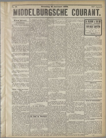 Middelburgsche Courant 1922-01-31