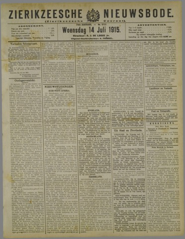 Zierikzeesche Nieuwsbode 1915-07-14