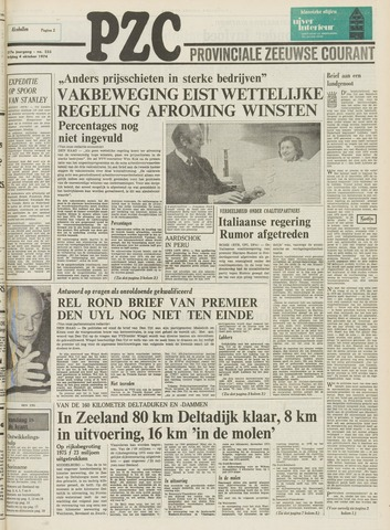 Provinciale Zeeuwse Courant 1974-10-04