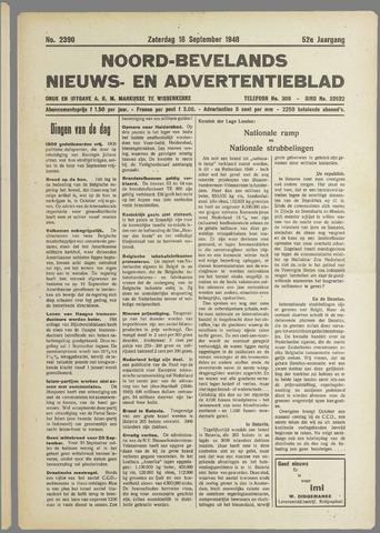 Noord-Bevelands Nieuws- en advertentieblad 1948-09-18