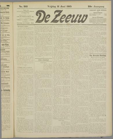De Zeeuw. Christelijk-historisch nieuwsblad voor Zeeland 1915-06-11