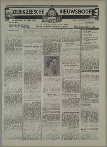 Zierikzeesche Nieuwsbode 1936-04-30