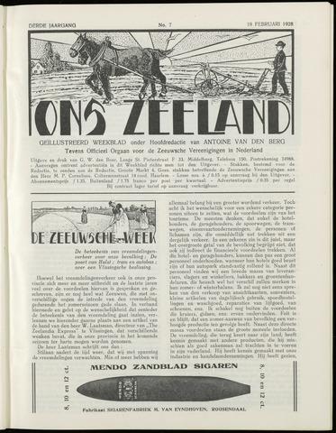Ons Zeeland / Zeeuwsche editie 1928-02-18