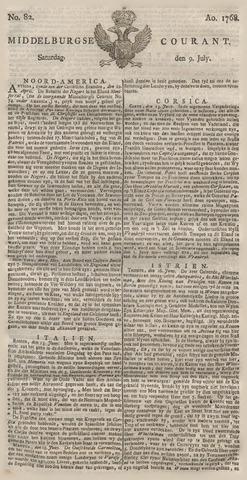 Middelburgsche Courant 1768-07-09