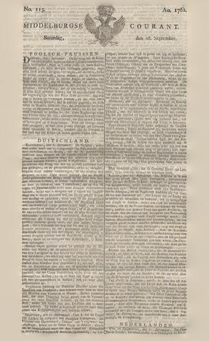 Middelburgsche Courant 1762-09-18