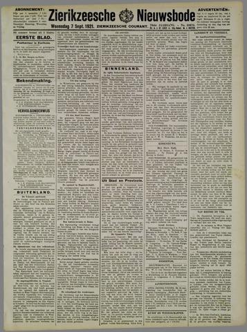 Zierikzeesche Nieuwsbode 1921-09-07