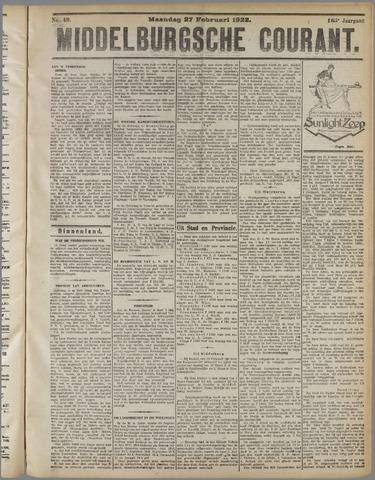 Middelburgsche Courant 1922-02-27