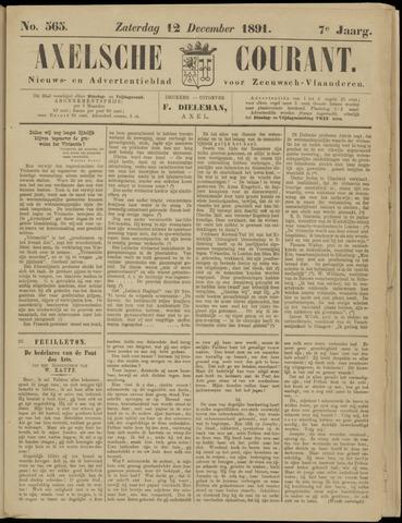 Axelsche Courant 1891-12-12