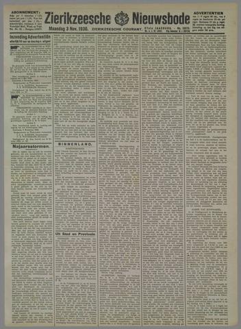 Zierikzeesche Nieuwsbode 1930-11-03