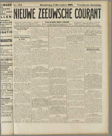 Nieuwe Zeeuwsche Courant 1918-12-05