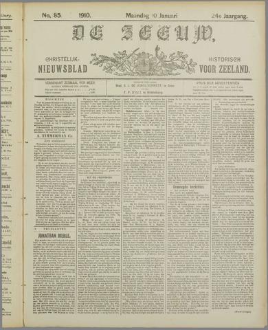 De Zeeuw. Christelijk-historisch nieuwsblad voor Zeeland 1910-01-10